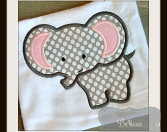 Elephant Applique Design - Elephant Embroidery Design - Animal Applique Design - Zoo Applique Design - Circus Applique Design