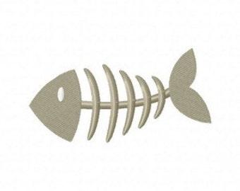 Fish Bone Machine Embroidery Design