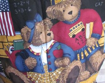 Back-to-school adult vest with bears - Medium