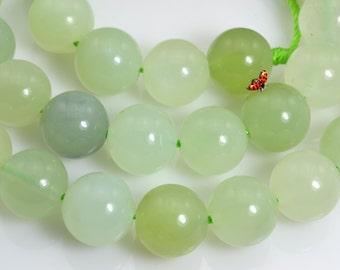 New Jade smooth round beads 10mm,37 pcs