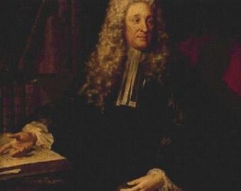 Portrait of Henri-François d'Aguesseau PDF Cross Stitch Pattern