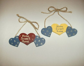 Home Sweet Home Rustic Primitive Country Wall Hanging