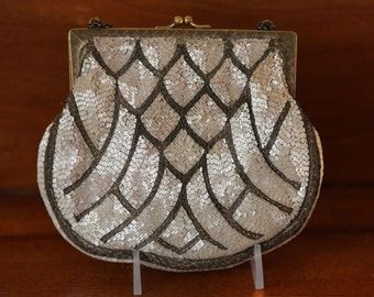 Vintage Beaded Deco Evening Bag