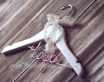 Personalised Children's Wooden Hanger, Wooden Wedding Hanger, Custom Made. UK SELLER.