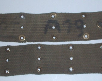 "US Army M-1936 pistol belt Olive Drab cotton; ""A-19"" and other markings; WWII-Korea-late 1950s"