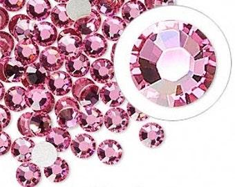 Light Rose Swarovski Crystal Flat Back SS10 Non Hotfix