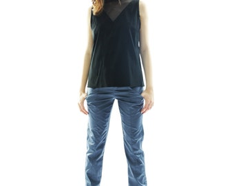 Women pencil pants | women trousers | Gray pants | spring pants | comfortable pants | pants with pockets | cotton trousers