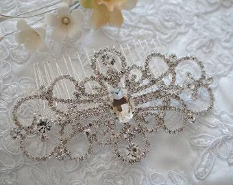 Bridal Hair Comb, Crystal Hair Comb, Wedding Hair Accessories, Vintage Inspired Bridal Hair Comb, Bridal Hair Accessories