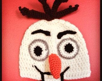 Frozen Olaf Hat - Disney Frozen Snowman  Costume Hat - Kids Halloween Costume - Toddler Halloween Costume - Baby Halloween Costume