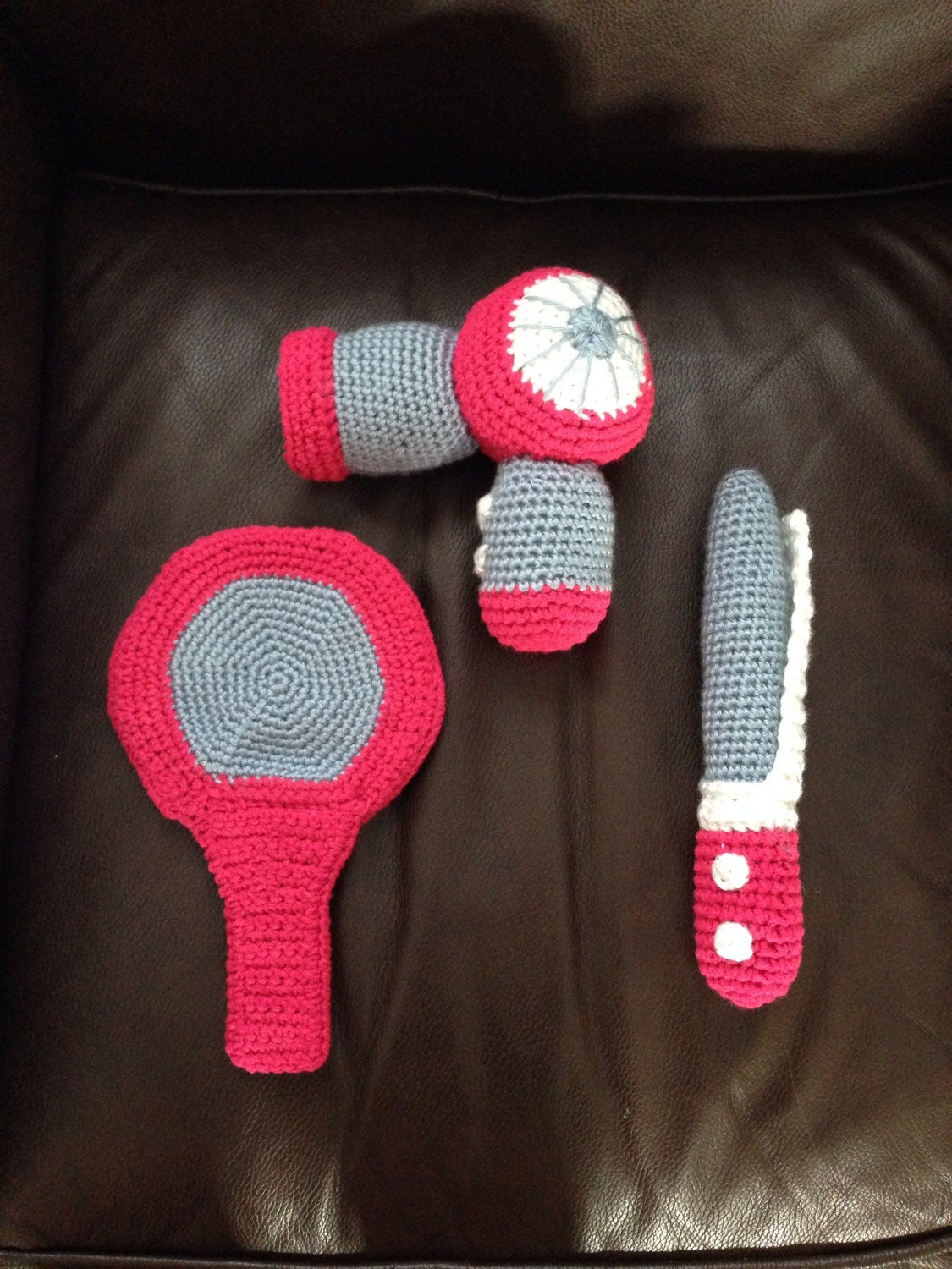 Toys For Hair : Crochet hair styling toy childrens salon set kids