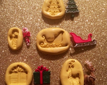 Christmas Silicone Mold Set of 5 Pieces