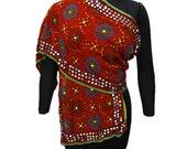 Vintage Dupatta Traditional Hand Beaded Veil Indian Design Scarf Red Georgette Fabric Stole Phulkari Dupatta  IDP2933