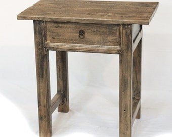 Small side table nightstand with drawer by Terra Nova Designs Los Angeles