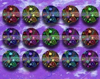 Floral  (145) 16mm  Digital Collage Sheet 4x6