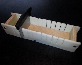 3 Lb Adjustable Mold and Soap Cutter Slicer, Cold Process Bar Loaf  Wooden Wood