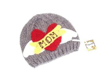 Rocker Baby Hat - Valentines day hat - Valentines day baby gift - Handknitted