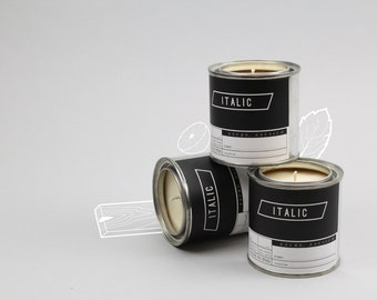 Candle TRIO - Three Half Pint (8oz) Scented Soy Candles in Paint Cans (Your choice of scents)