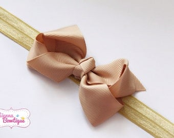 Set of 6 Baby Girl  Bow Headband, Newborn Headband