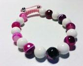 Agate Gemstone shamballa bracelet