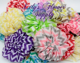 Grab Bag Chevron Ballerina Flowers - Wholesale fabric flowers - Grab Bag Flowers  - Headband Supply