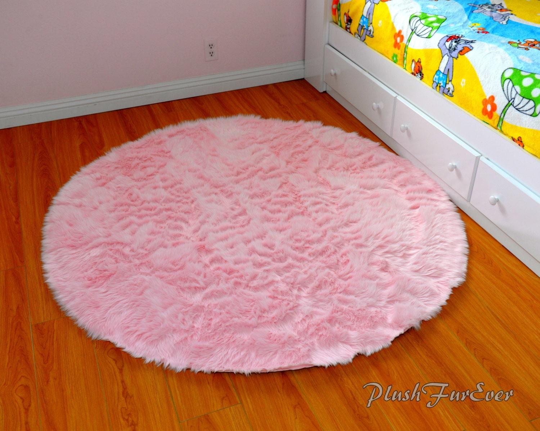 Pink Nursery Rug Baby Pink Luxury Faux Fur Throw By