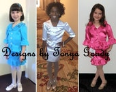 Pageant interview suit, high shine, glitz, custom pageant wear, girls size 4, 5, 6, 7, 8, 9, 10.