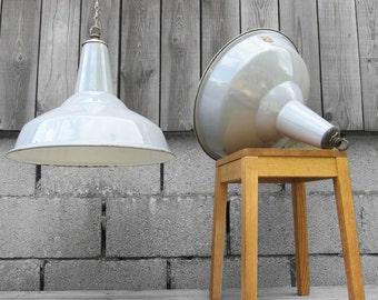 Enamel Metal Light Industrial Kitchen Grey Light Large