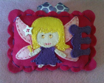 Personalized Tooth Fairy Pillow.  Girl's Tooth Fairy Pillow.  Girl's Accessory