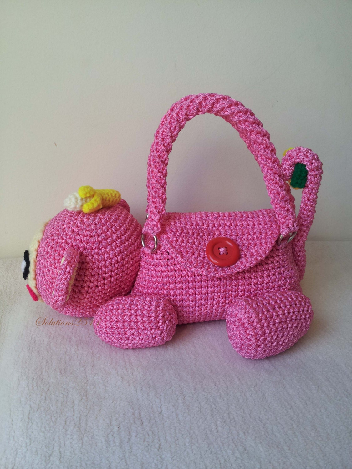 Monkey crochet handbag birthday gift perfect to every