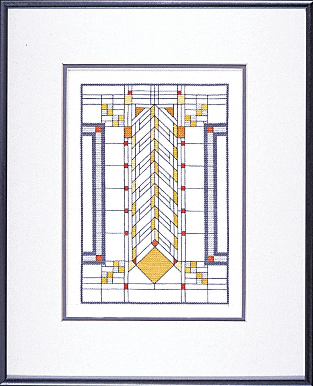 Frank Lloyd Wright Heath House Window Cross Stitch PDF Chart