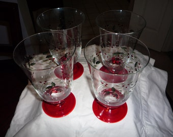 Winterberry Water Goblets