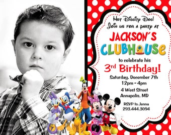 Mickey Mouse Clubhouse girl Party Invitation - Digital or Printed