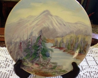 Vintage Hand Painted Plate 6""