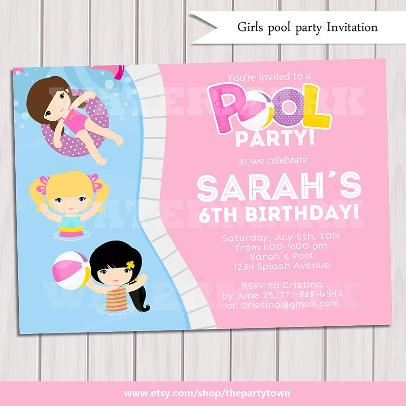 party invitations very best pool party invites cool design free