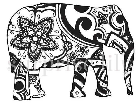 tribal animal coloring pages - photo#13