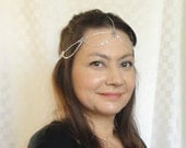 Silver chain headchain Boho head jewelry Chic head piece Silver head chain Chain headpiece Silver headpiece