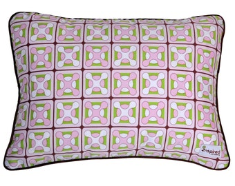 Geox Pink & Green Baby Crib Bedding Nursery Pillow Cover