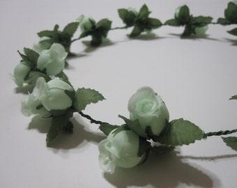 MISAKI (XXV) Mint Floral Headband