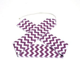 Purple Chevrons - Weight Lifting Wrist Wraps