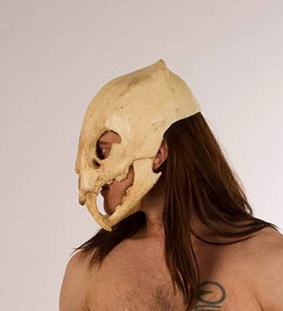 Saber Tooth Tiger Skull Mask With Movable Jaw |Tiger Skull Mask