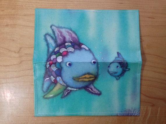 Checkbook cover rainbow fish children 39 s book for Rainbow fish children s book