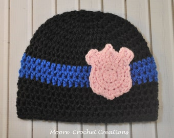 Police Baby Hat (Police Officer beanie, photo prop)