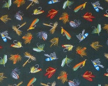 Cotton fabric, Clothing, Quilt, Fishing Lures on Black Sports,Timeless Treasures, GM-C2843, Fast Shipping, S105