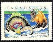 The Ogopogo, Canada -Handmade Framed Postage Stamp Art 14849