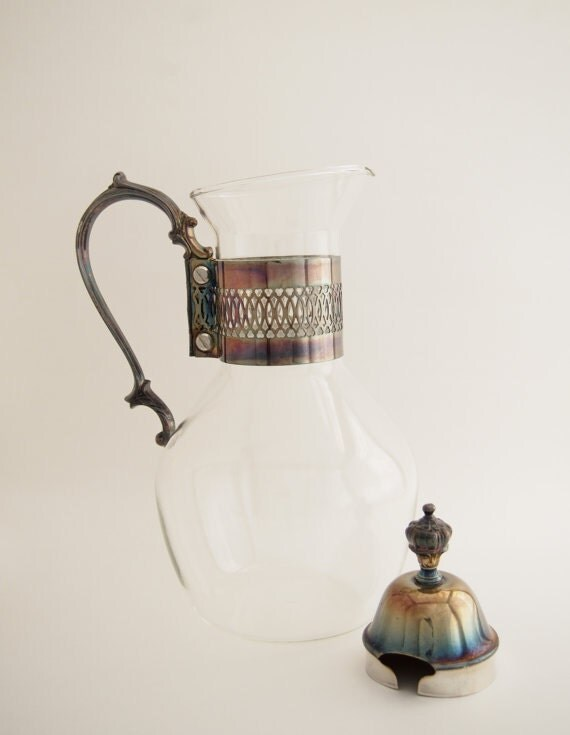 Vintage glass carafe coffee and tea decanter by bellebloomvintage - Heat proof glass pitcher ...