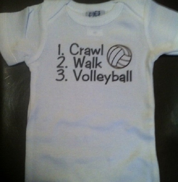 Volleyball baby shirt infant clothes one piece body suit