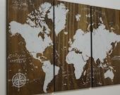World Map Push Pin Travel Map • Wall Art  • World Map • Wedding Gift • Unconventional Guest Book • Anniversary