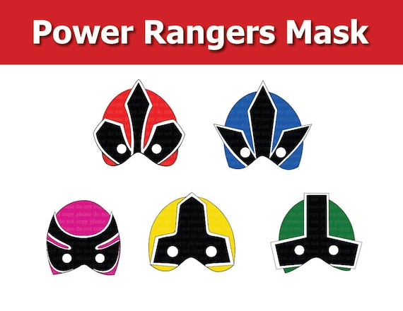 It is a picture of Crush Power Ranger Mask Printable