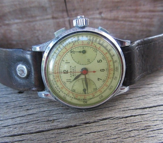 ultra rare antique 1930 watch arbor sport chronographswiss ultra rare antique 1930 watch arbor sport chronograph swiss made men s watch working