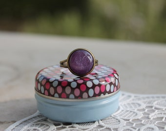 Purple SPARKLY ring